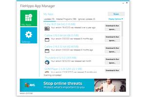 FileHippo App Manager v2.0 in Windows 10