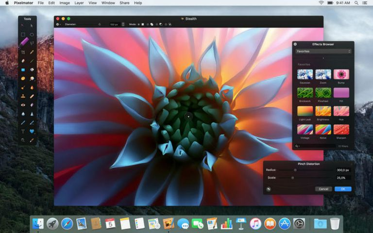 A screenshot of Pixelmator on macOS.