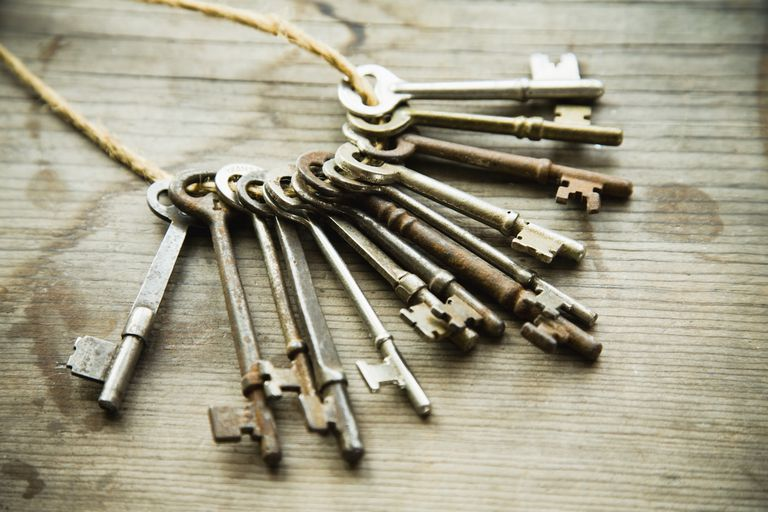 Old-fashioned keys