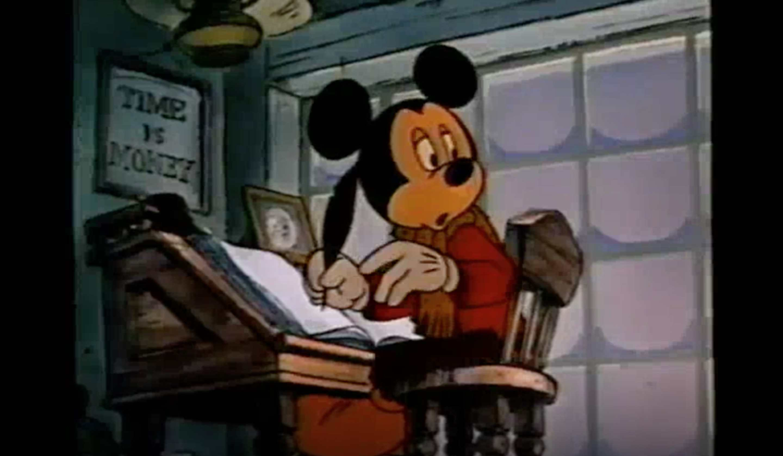 A still image of Mickey's Christmas Carol.