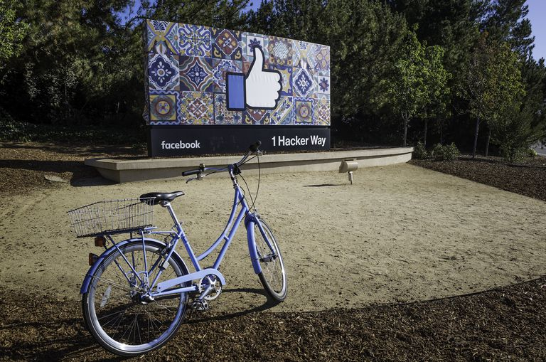 Facebook headquarters at 1 Hacker Way