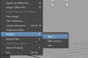 Create a New Project in Maya