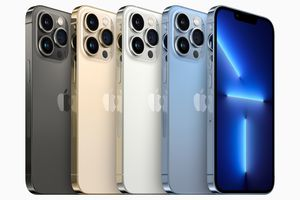 The iPhone 13 lineup.