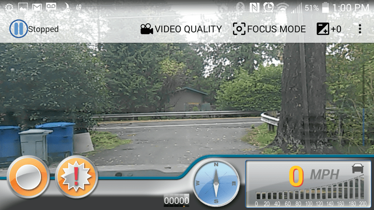 Autoguard dash cam screenshot