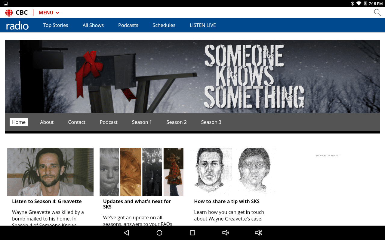 Someone Knows Something home page