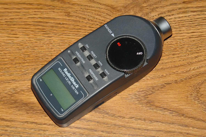 Radio Shack dB Digital Sound Level Meter