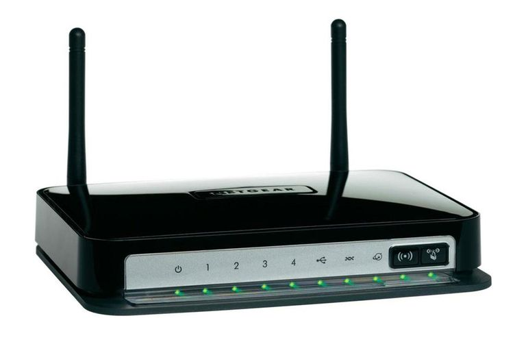 Picture of a Neatgear DGN2200 wireless router