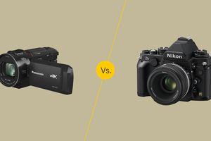 Digital camcorder vs camera