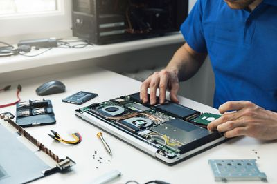 Image of installing a new hard drive