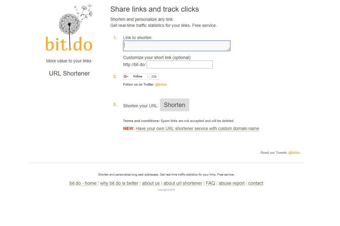 Bit.do website screenshot