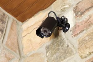 Home entry security camera