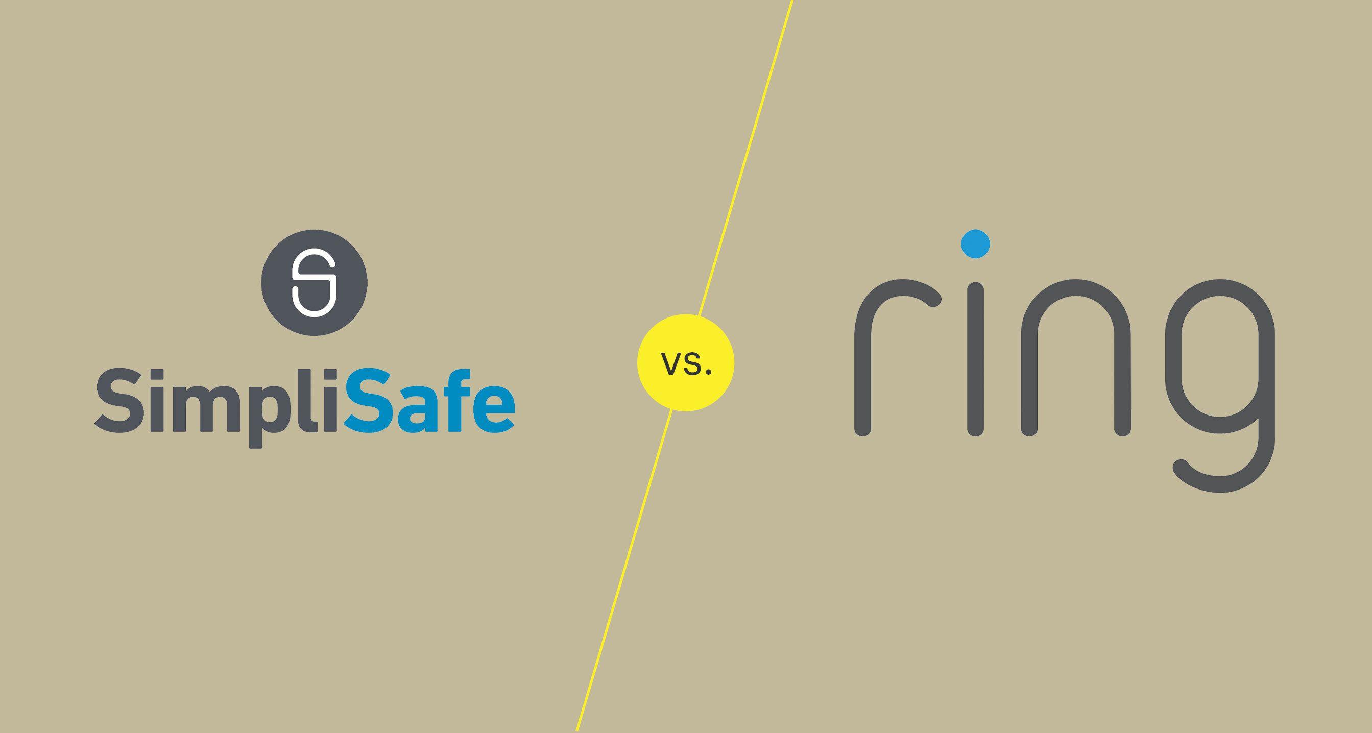 SimpliSafe and ring logos