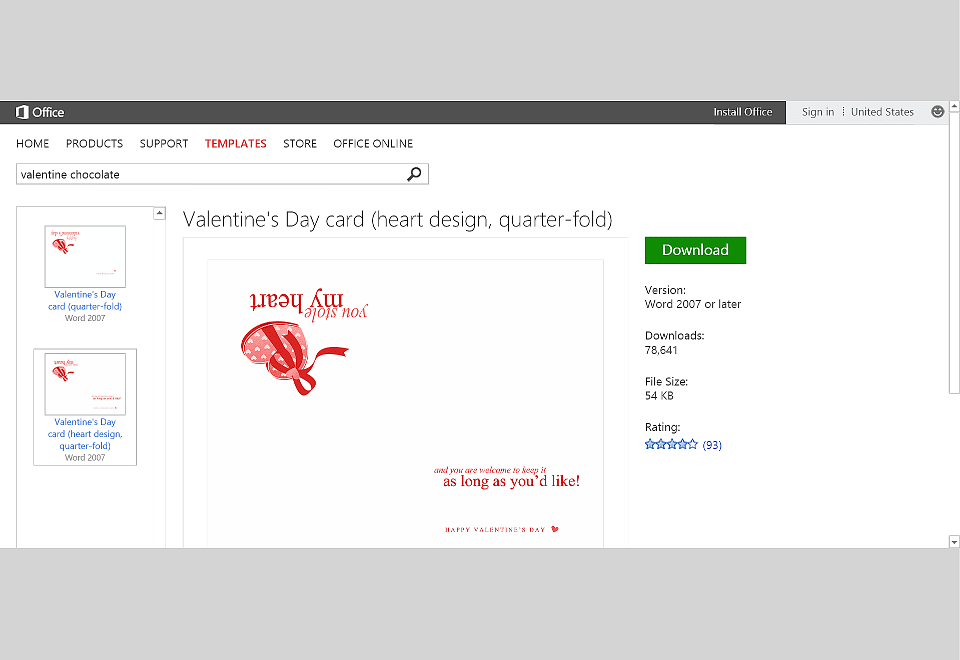 Free Valentine S Day Templates For Ms Office