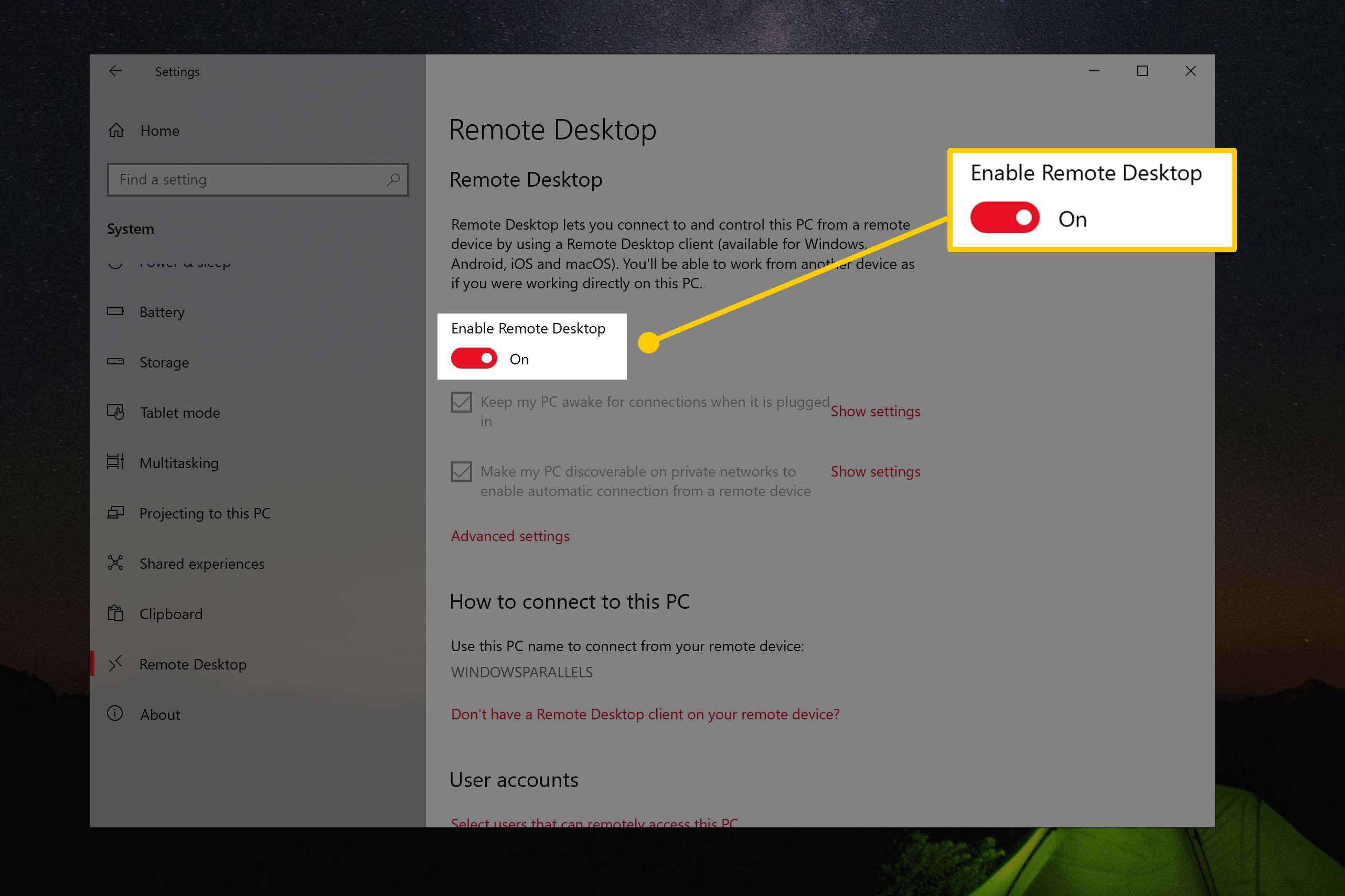 How to Use Remote Desktop on Windows 10