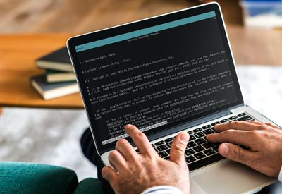 Bash main menu on computer