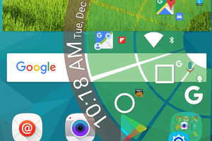 Screenshot of an Android pie menu created with the Pie Control app