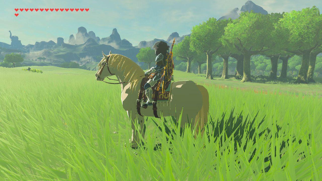 Royal White Stallion in Zelda: Breath of the Wild.