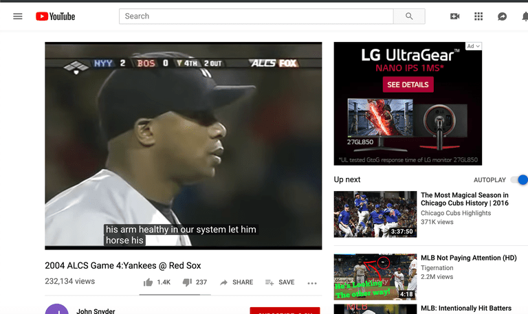 screenshot of a YouTube video with closed captioning