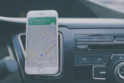 Google Maps on an iPhone.