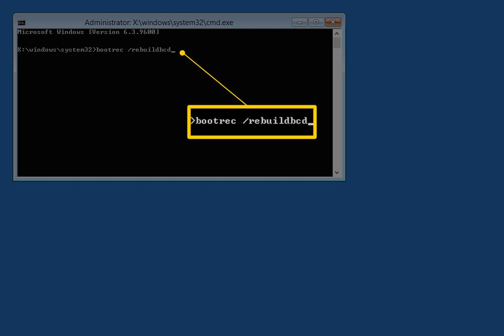 How to Rebuild the BCD in Windows
