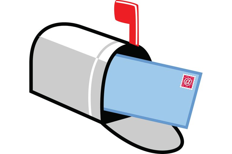 Illustration of a mailbox with mail in it