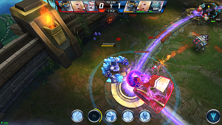 Call of Champions is a MOBA mobile game for the iPhone, iPad and Android.