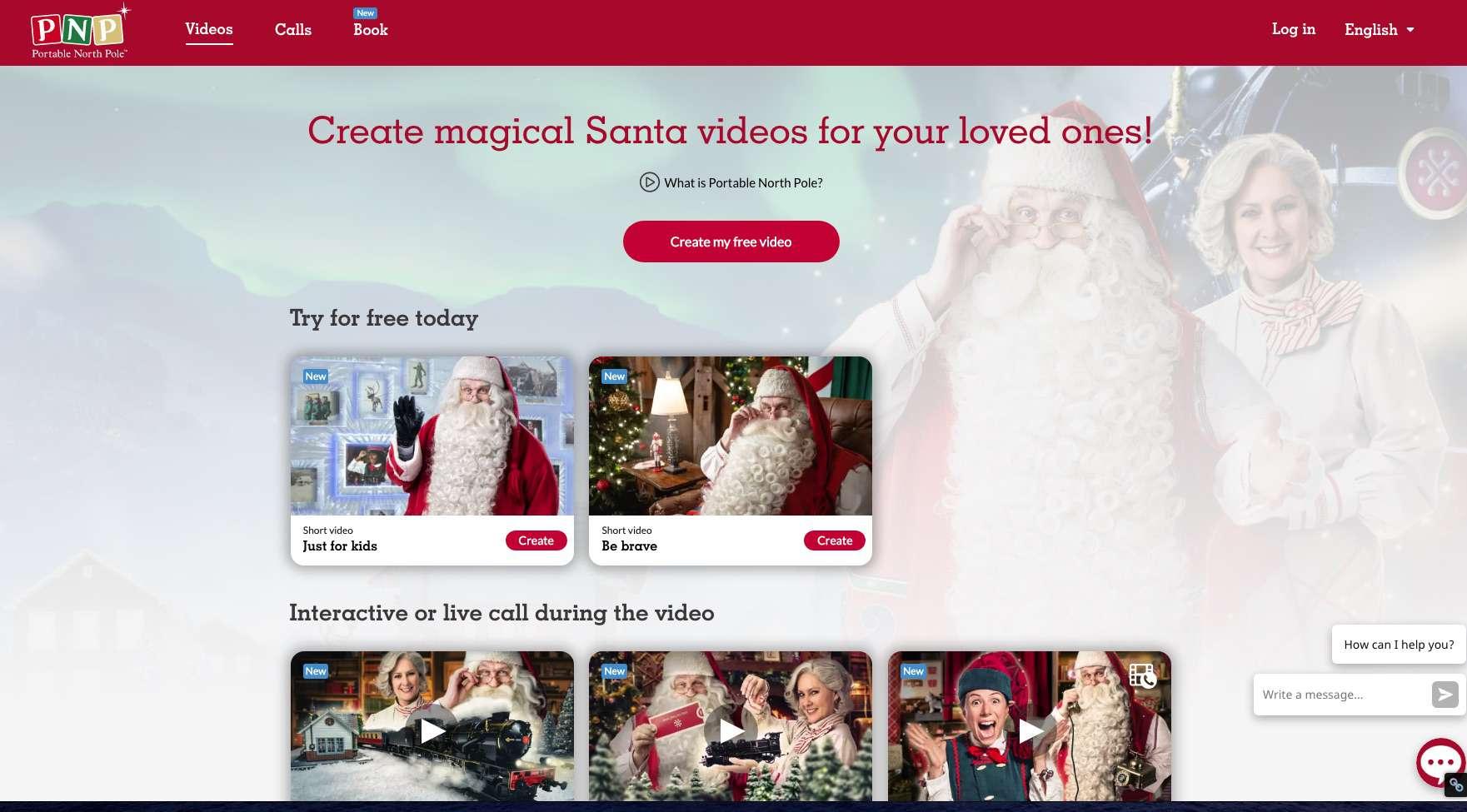 Make a free video at Portable North Pole