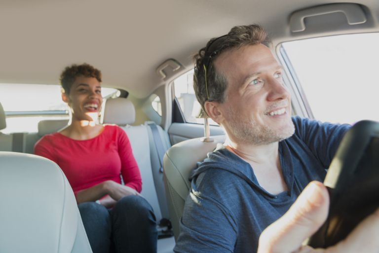uber driver and passenger