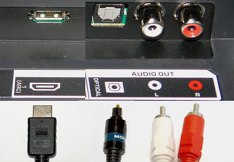 TV Audio Output Connection Options - HDMI, Optical, RCA