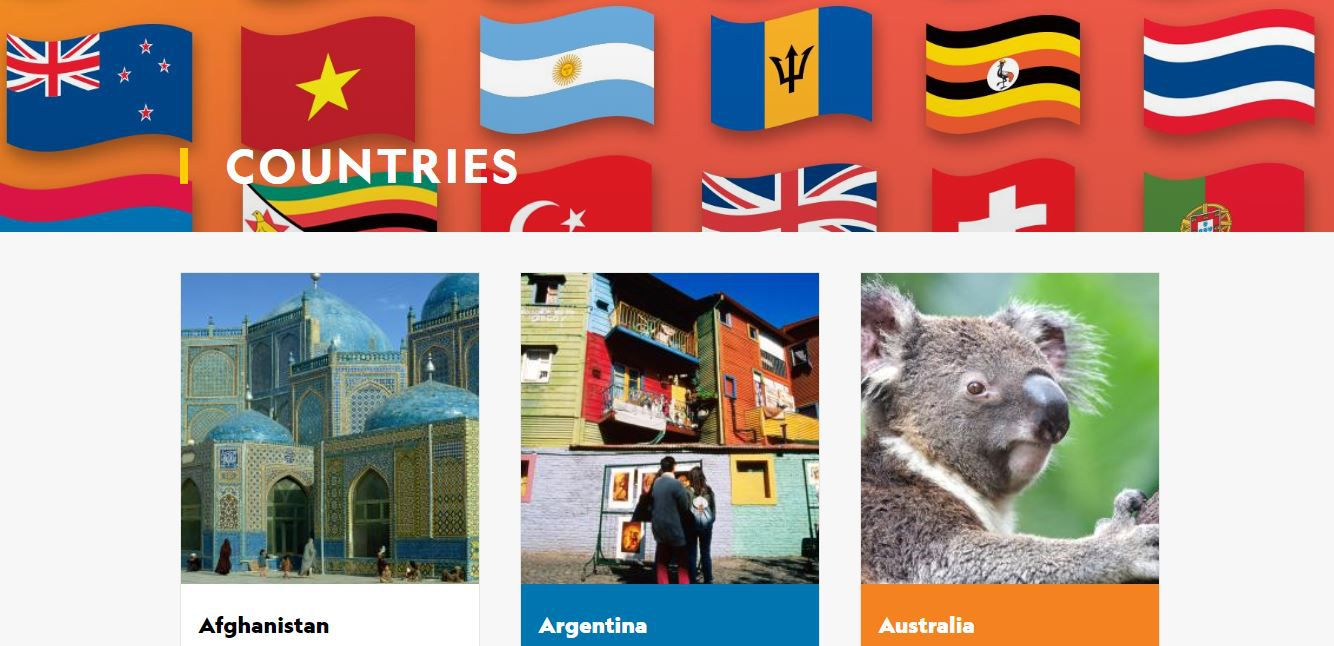 Nat Geo for Kids Countries page