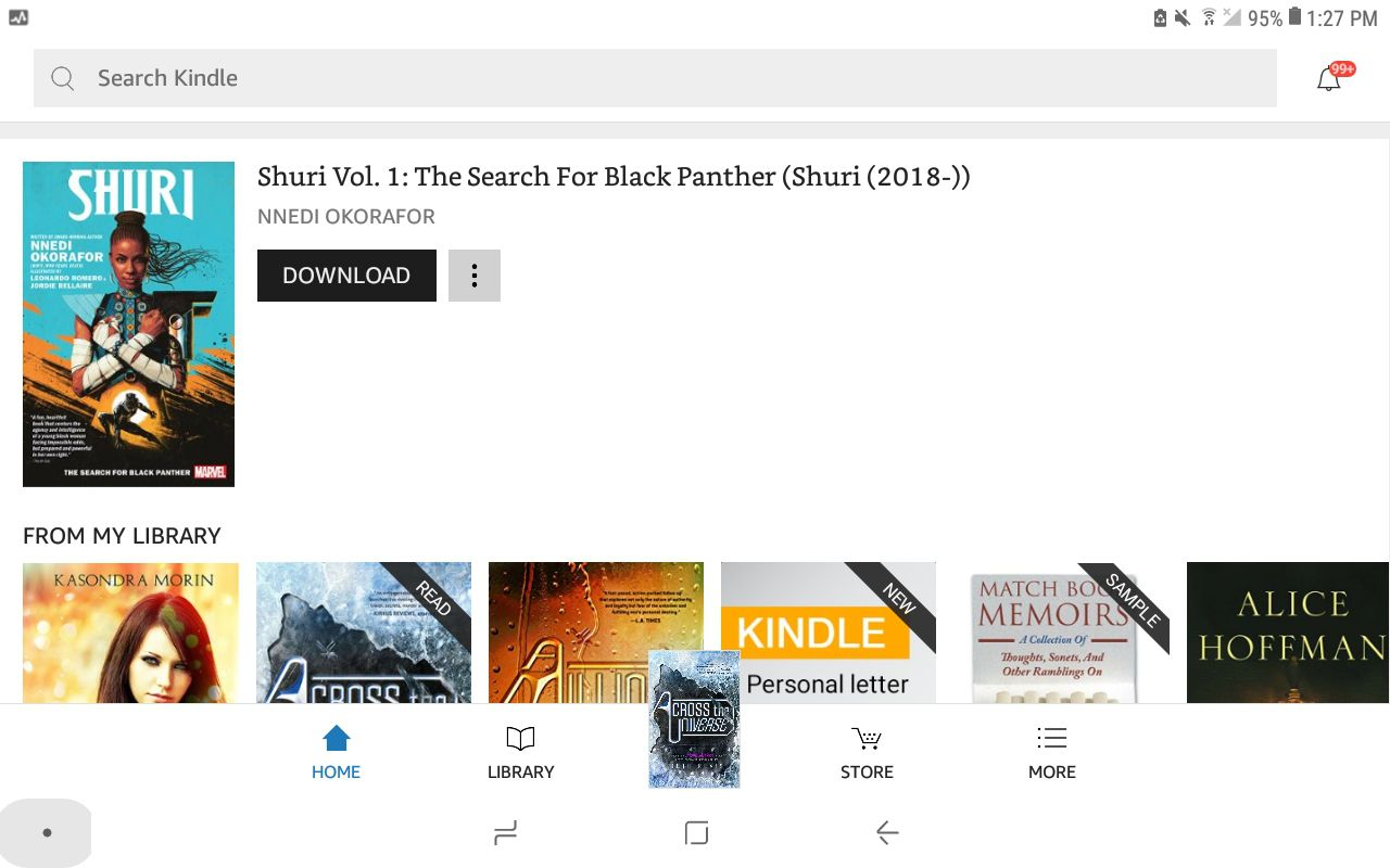 Amazon Kindle app for Android
