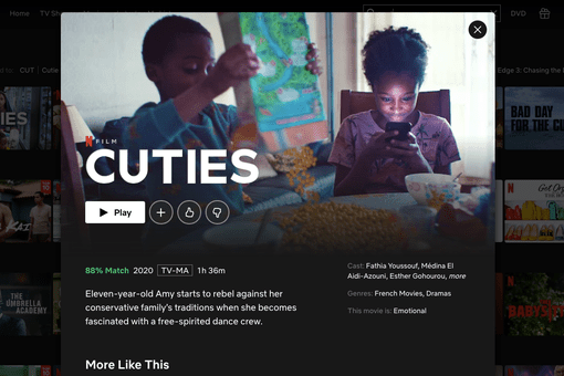 French movie Cuties on Netflix