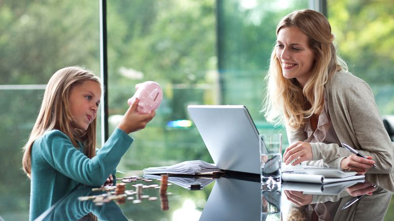 A mother and daughter planning their Facebook Shopify store