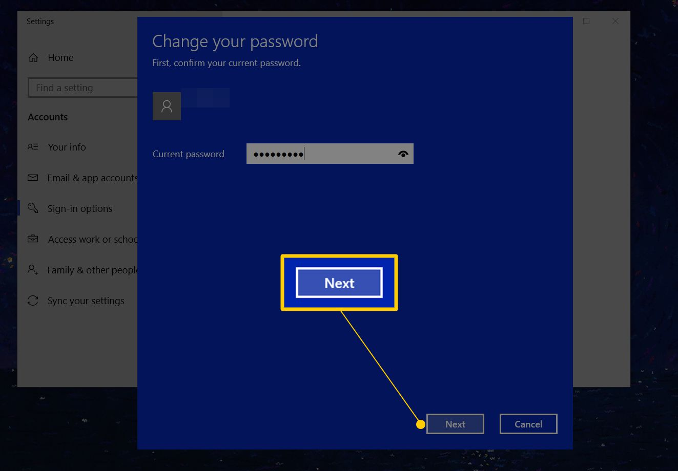 how do you change your password on a windows computer