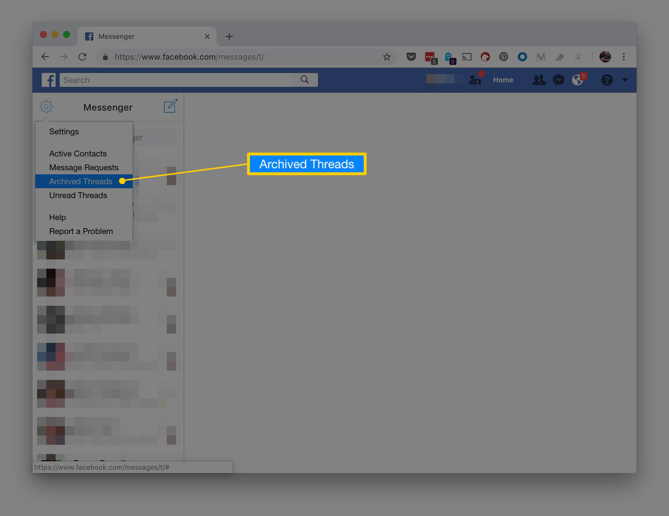 How to View Archived Facebook and Messenger Messages