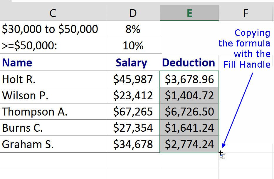 Nesting Multiple IF Functions in Excel