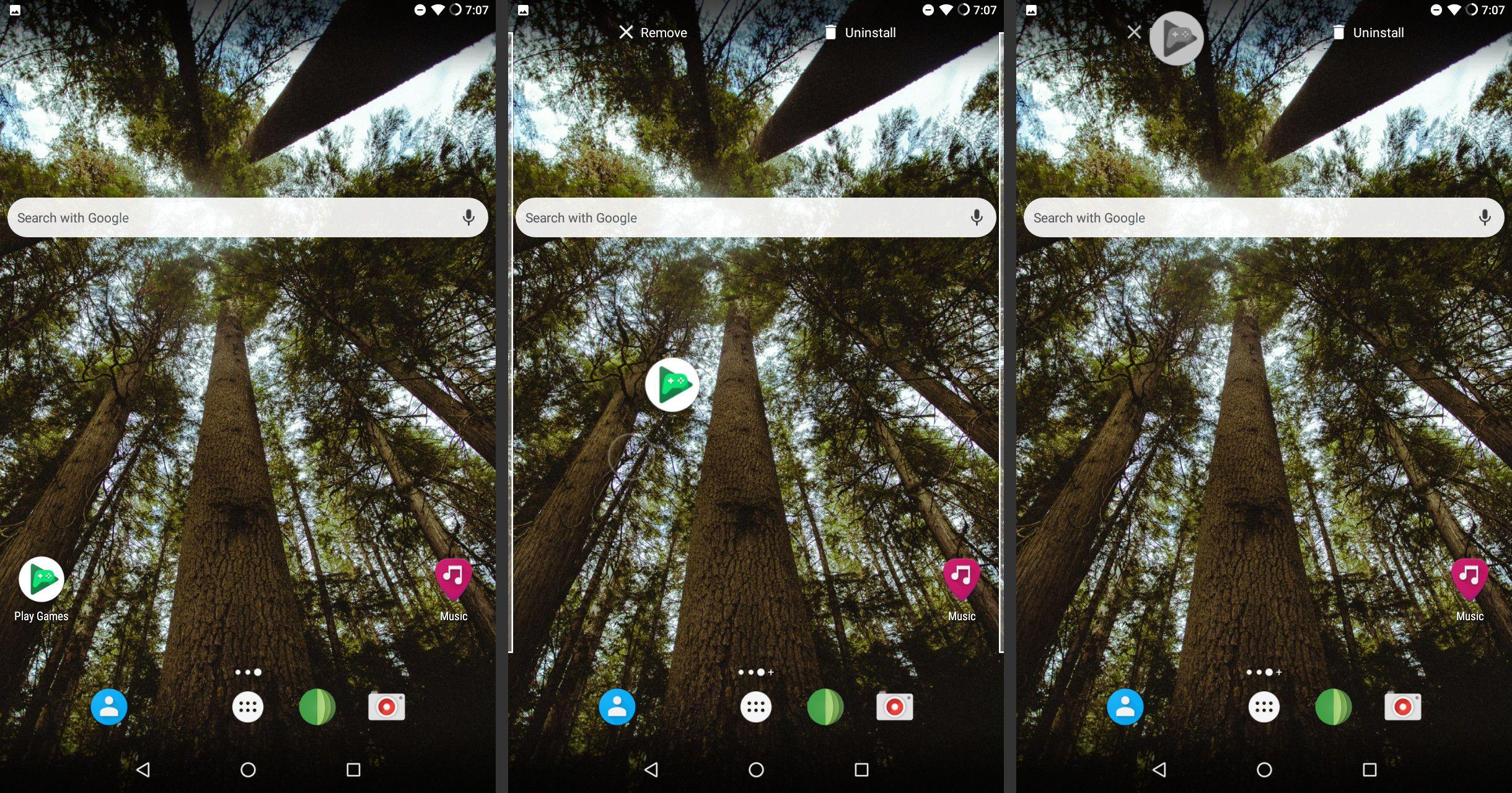Android remove app icon