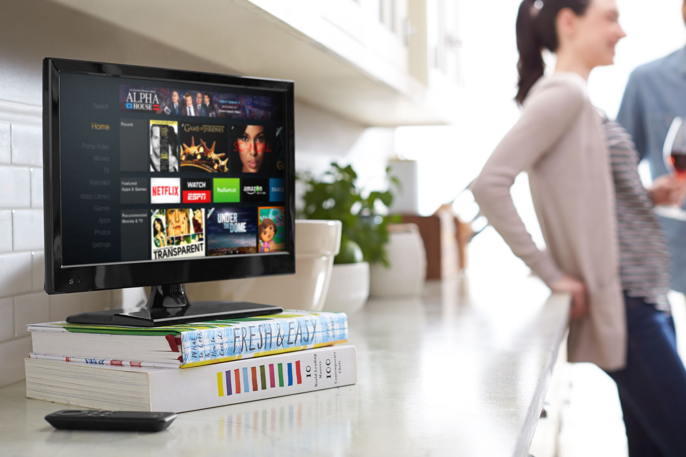 How To Set Up And Use Amazon Fire Tv The Cable Line Ready Tvs Or Through An Adapter Box Top