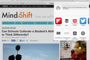 Customized Safari share options in iOS 8