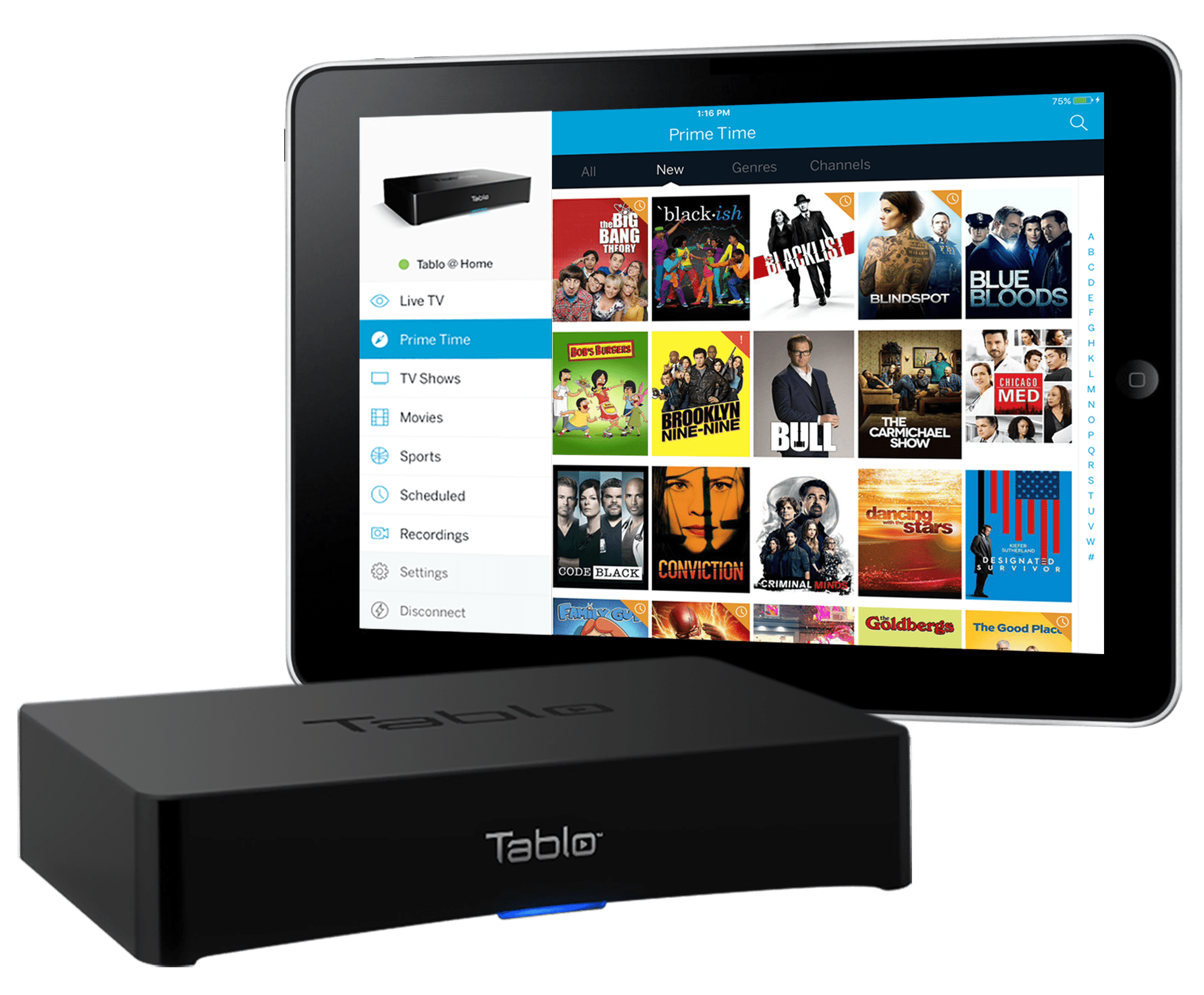 Tablo box and software