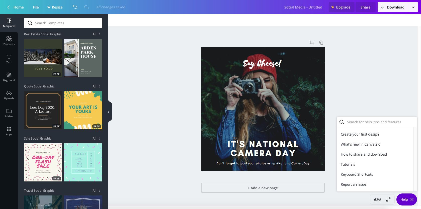 Canva.com, with professional photos to boost Instagram engagement