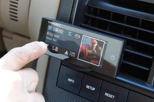 SirirusXM Commander Touch mounted in car