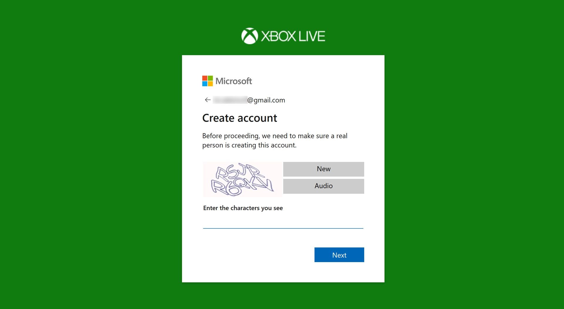 Screenshot of the Xbox website.