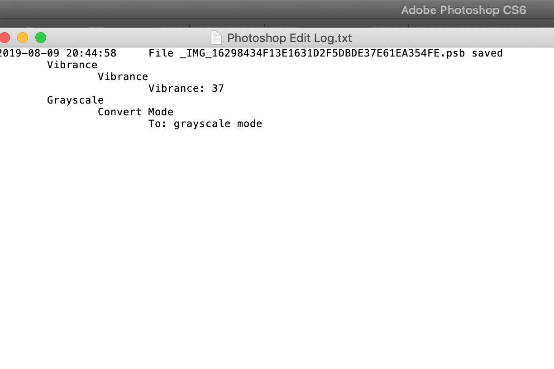 Photoshop CS edit log