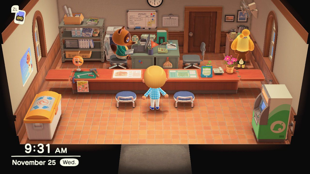 New Animal Crossing character at Island Services