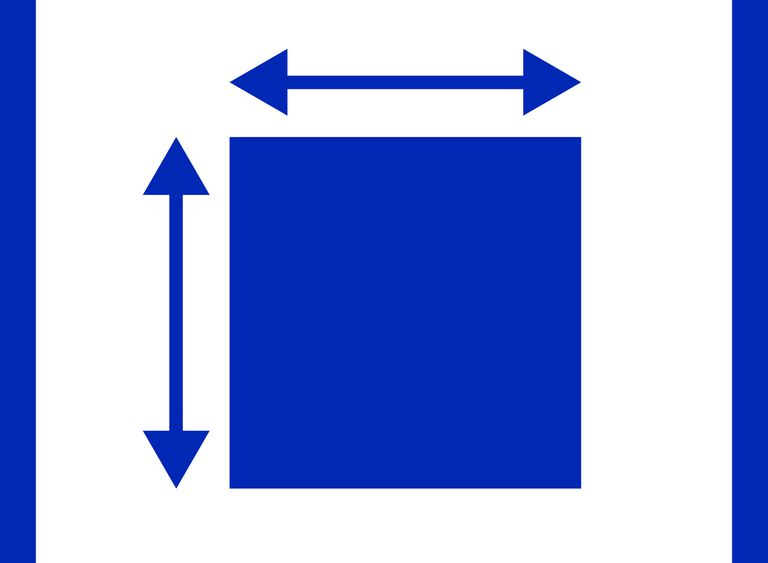 Illustration of a resizing of an object in the color blue