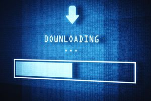 Downloading icon and status bar