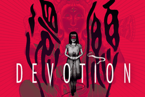 The cover art from the game, Devotion.