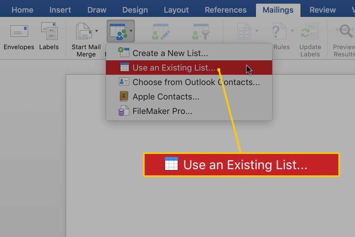 Perform a Microsoft Word Mail Merge From Within Excel