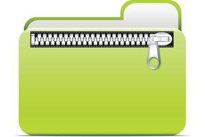 A zipped file folder